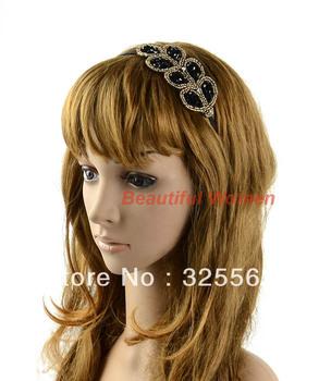 5pcs/lot Lovely Princess Elegant Stylish Crystal Beaded Headband Hair Band Hairpin Free Shipping 10389