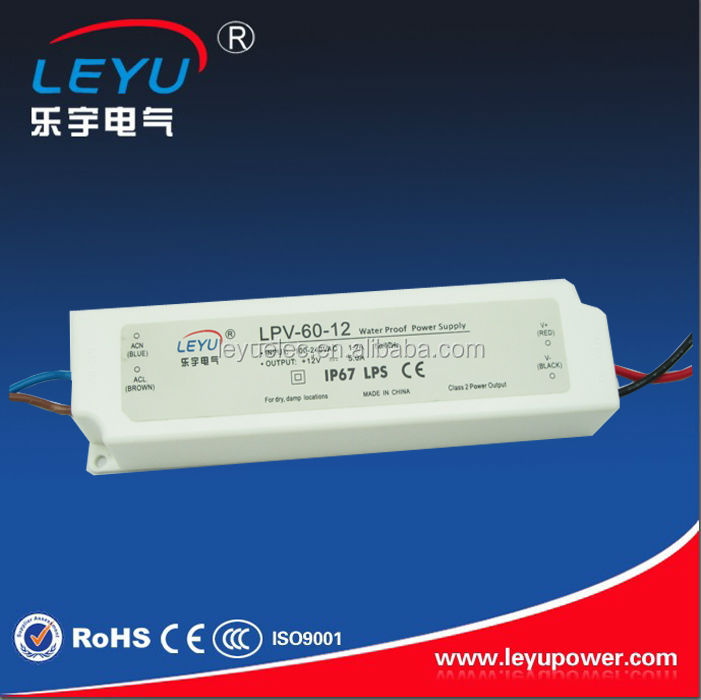 high quality best price IP67 plastic 12v 5a 60w waterproof led transformer made in China<br><br>Aliexpress