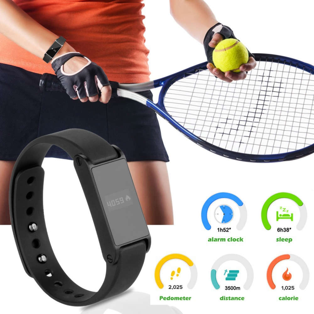 Hot! Excelvan OLED Bluetooth Smartband 4.0 Watch Pedometer /Calorie Health Record Wristband Fitness Bracelet for Android IOS(China (Mainland))