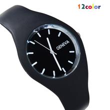 Nueva ginebra movimiento del reloj del silicón del Color del caramelo de la moda de alta costura ocio relojes 12 Colors relojes de cuarzo