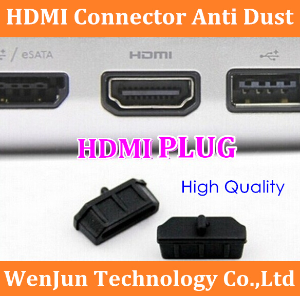 High Quality 10PCS NEW HDMI Connector Anti Dust Stopper Cover for Laptop Desktop PC TV(China (Mainland))