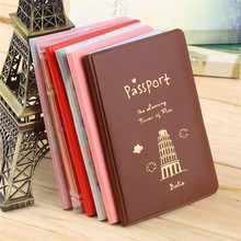 2015 Simple Travel ID&Document Holder Utility Pu Leather Passport Cover 6 Colors new arrival(China (Mainland))