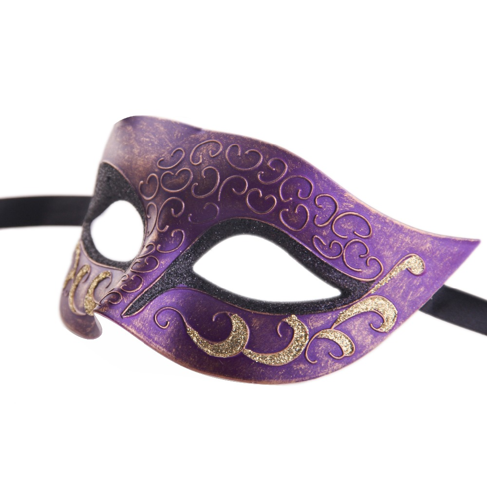 New Arrival 1pc Multi color Painted Fine Fashion Plastic Mask Masquerade Party Halloween Christmas masquerade masks F002-BK(China (Mainland))