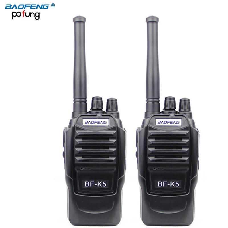2PCS baofeng BF-K5 Pofung portable two way radio Professional FM transceiver long range wireless Walkie Talkie radio scanner(China (Mainland))