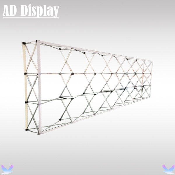 20ft Straight Economical Model Exhibition Advertising Pop Up Display Fabric Stand,Trade Show Booth Pop Up Wall (Only Frame)(China (Mainland))