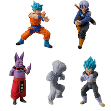 New Dragon Ball SUPER Figure Toys-Bandai Gashapon SCENE SELECTION 01~Goku,Vegeta,Krillin,Champa,Trunks~ Ultimate Deformed Mascot