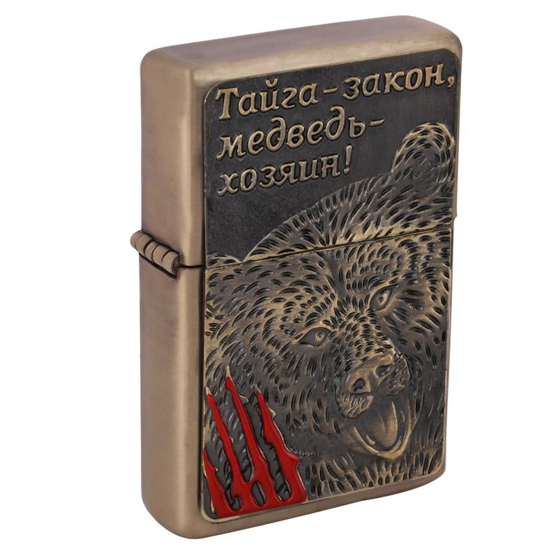 Exclusive design 2016 hot sale metal gasoline lighter Fashion ancient lighter Men gift