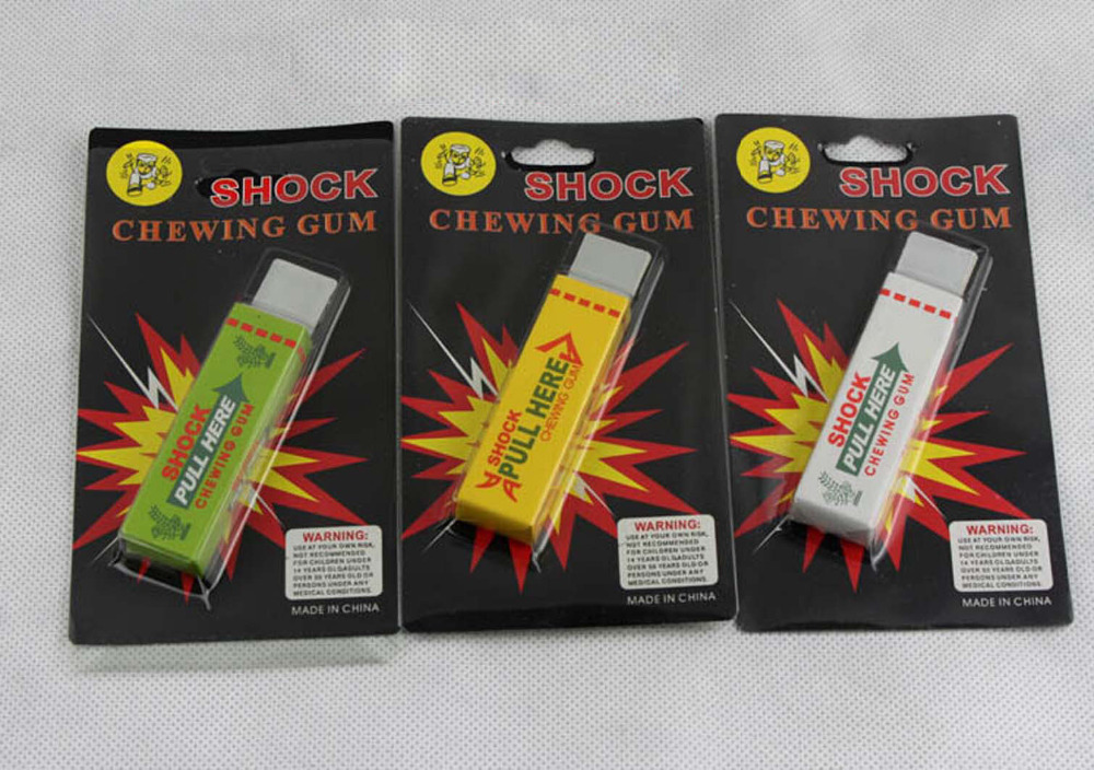 Electric Shock Chewing Gum Playing A Trick Toy Shock Entire Toy Simulation Electric Shock Chewing Gum Funny Practical Jokes Toys(China (Mainland))