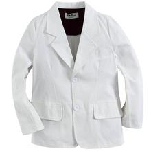2015 veste garçon de haute qualité coton tissé 100% soldi blanc(China (Mainland))