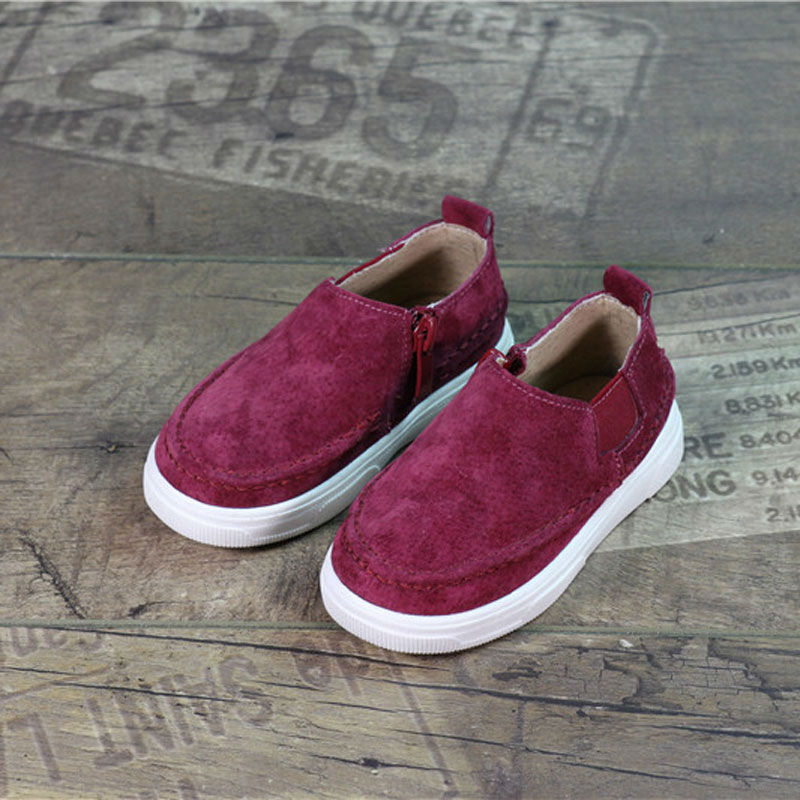 New Children Shoes Leather Spring And Autumn 2016 Kids Shoes Slip-on Girls Leather Footwear Student Boys Casual Sneaker