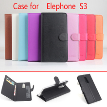 Buy Phone Cover Elephone S3 Case Flip Luxury Leather Wallet Phone Bag Case Elephone S3 Mobile Cover for $4.08 in AliExpress store