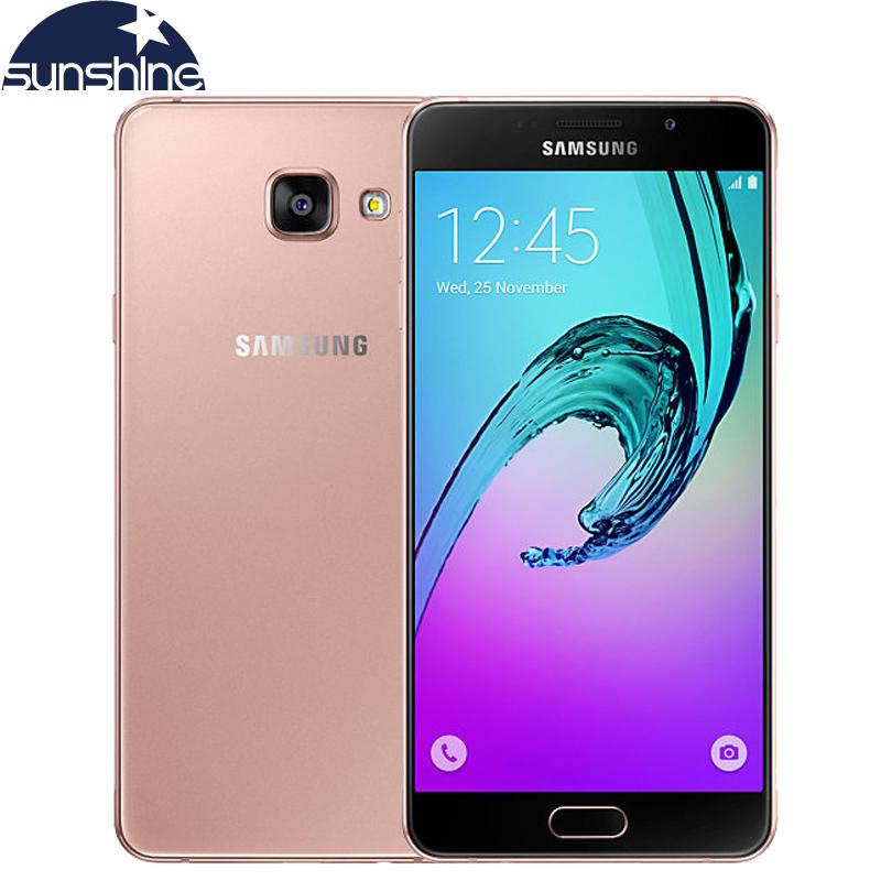 "Original Samsung Galaxy A7 A7100 (2016) 4G LTE Mobile phone Octa Core 5.5"" 13.0MP 1080P 3G RAM Fingerprint Dual SIM Smartphone(China (Mainland))"