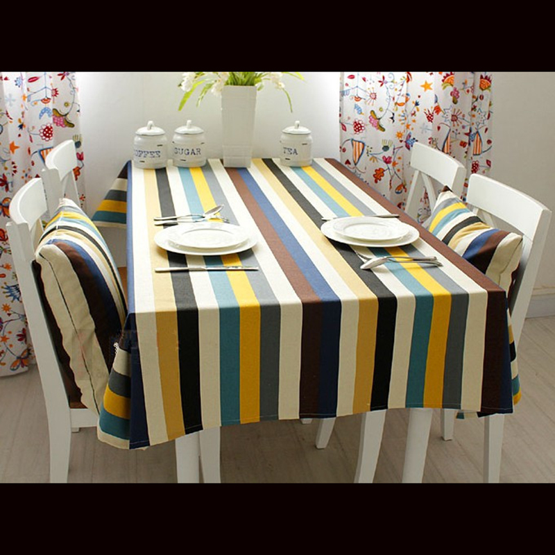 100% cotton stripe Table cloth cover square tables towel rectangular tablecloths For home wedding table free shipping(China (Mainland))