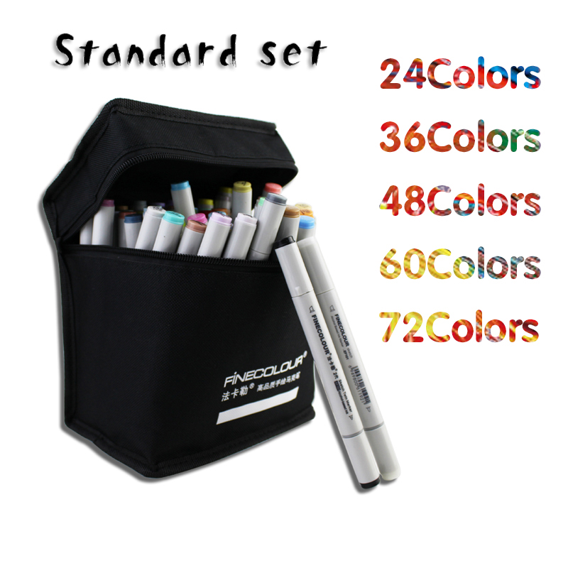 160 PC Colors Double Headed Sketch Marker Pen 24 36 48 60 72 PC Standard Set Painting Sketch Art Copic Marker Pens Stationery(China (Mainland))