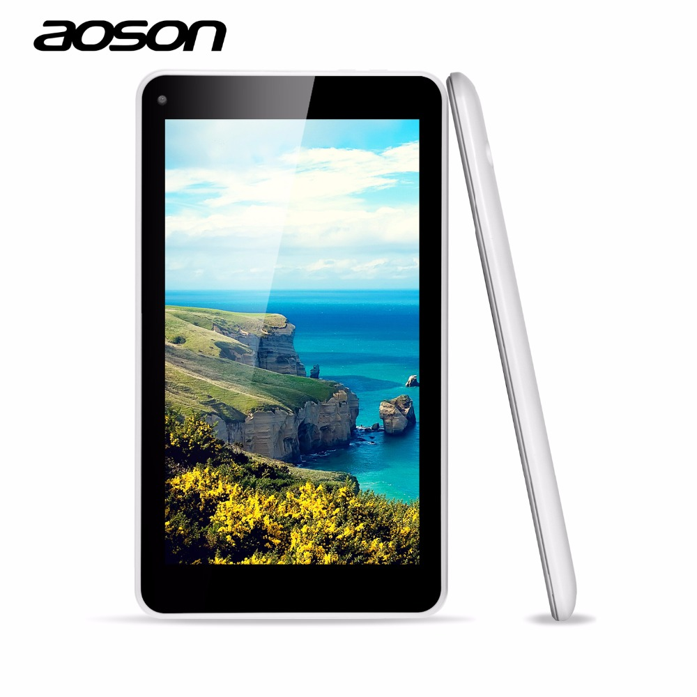 Cheapest Updated AOSON M751S-BS 7 Inch Tablets PC Netbook HD 1024*600 Allwinner A33 Quad Core Dual Camera 512MB/8G Android 4.4(China (Mainland))