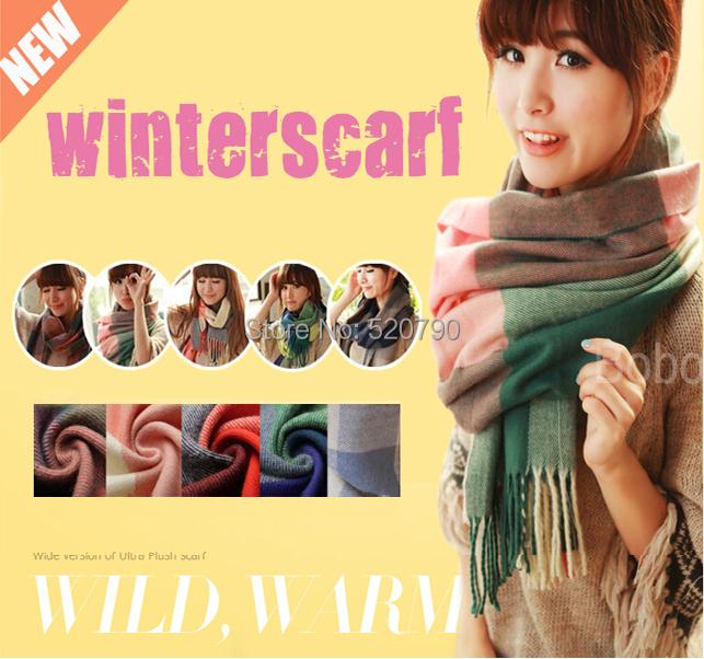Fashion Wool Women Scarf Spain Desigual Scarf Plaid Thick Scarves Shawl for Women 2015(China (Mainland))