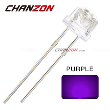 100pcs 5mm Light UV Purple Straw Hat Wide Angle Ultraviolet 395nm - 400nm Transparent Light-Emitting Diode LED Lamp(China (Mainland))