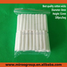 Free Shipping 200PCS/lot High Quality Replacement Blank Inhaler Wicks, Essential Oil Cotton Wicks for Plastic Nasal Inhalers(China (Mainland))