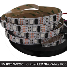 Buy 5M DC5V WS2801 32 Pixels 2801 Dream Color 5050 RGB Pixel LED Strip 32LED/M Addressable 5V IP20 Non-waterproof 12mm White PCB for $34.00 in AliExpress store