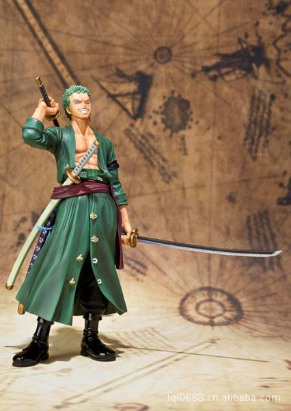 "Anime one piece Roronoa Zoro action figure toys 15cm(6.3"") PVC doll free shipping, no original Box(China (Mainland))"