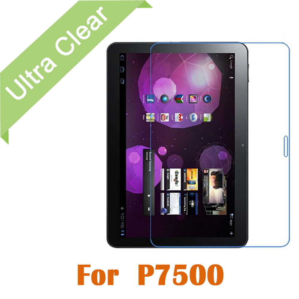 Здесь можно купить  1000pcs/lot Transparent ultra Clear HD Glossy LCD Screen Protector For Samsung Galaxy Tab 10.1 P7510 P7500 Protective Film  Телефоны и Телекоммуникации