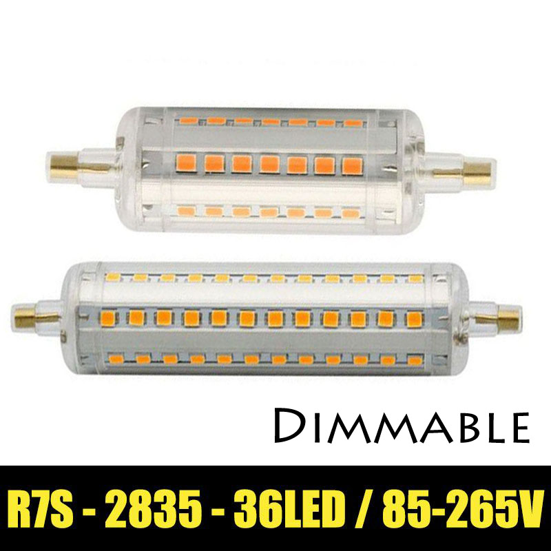 dimmable LED R7S Lamp 5w 78mm LED R7S light 10w 118mm R7S lamp 360 degree angle perfect replace halogen lamp AC85-265V(China (Mainland))