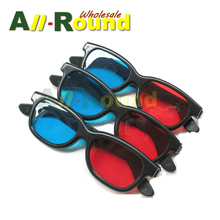 500Pcs Universal Version Blue And Red 3D Glasses Home Use Cheap Price For TV Movie Video Projector 3D Eye Glass Free Shipping(China (Mainland))