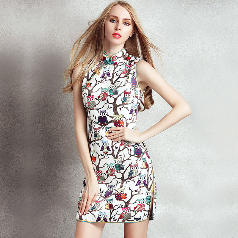 2015 Summer Style New Women Fashion Floral Dress Sexy Club