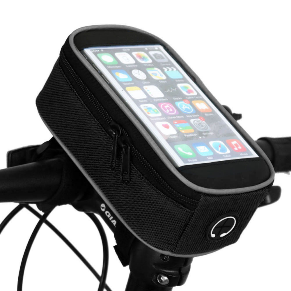 "5.5"" Waterproof Touchscreen Saddle Bag MTB Cycling Phone Panniers Front Bicycle Bags Mountain Road Bike Top(China (Mainland))"