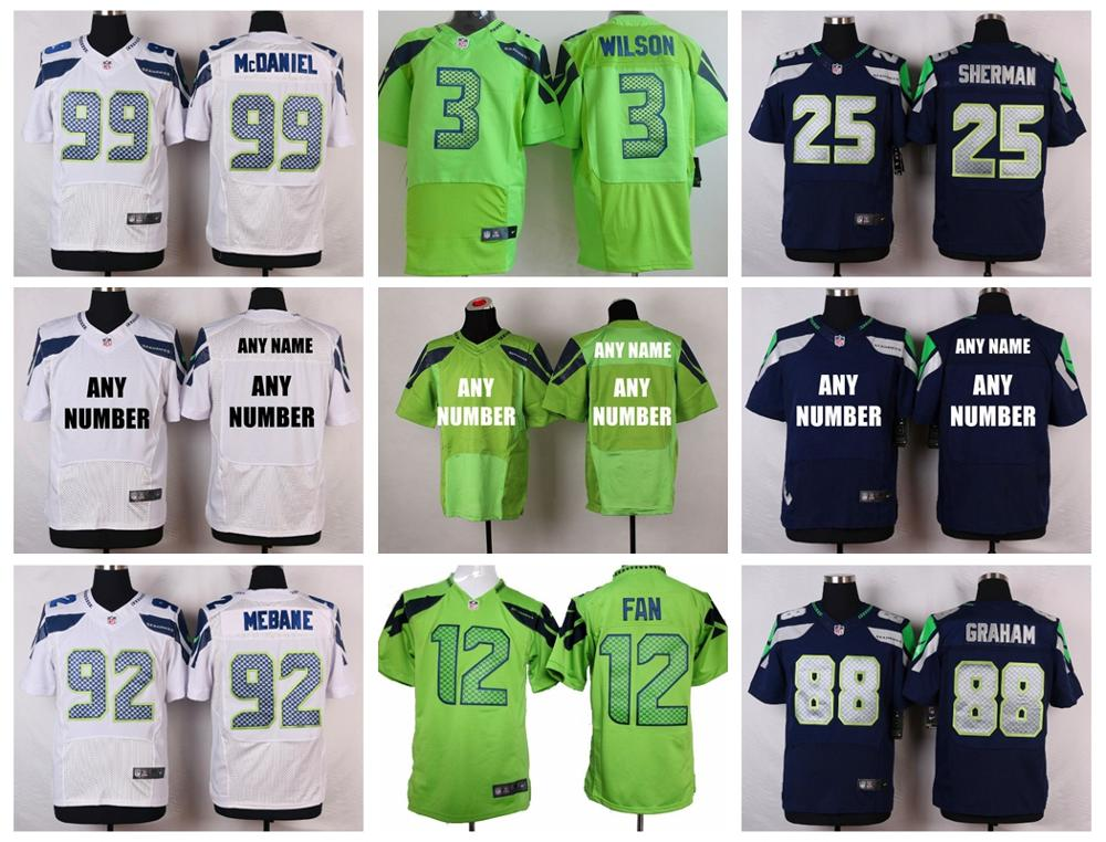 Stitiched,Seattle Seahawks,Marshawn Lynch,Richard Sherman,Russell Wilsons,Jimmy Graham,Earl Thomas,Steve Largent,customizable()