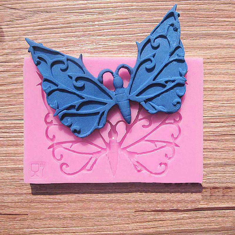 Free Shipping Best Price Butterfly Frame Fondant Cake Decorating Cookie Mold Soap Chocolate Mould(China (Mainland))