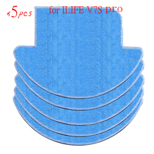 Buy 5 pcs ilife v7s pro Cloths Vacuum Cleaner Parts chuwi ilife v7s pro Mop Cloths robot vacuum cleaner for $14.99 in AliExpress store