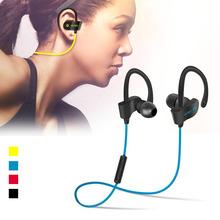 Sports USB Bluetooth Microphone Headset Wireless Headphone Neckband Style Earphones for iPhone