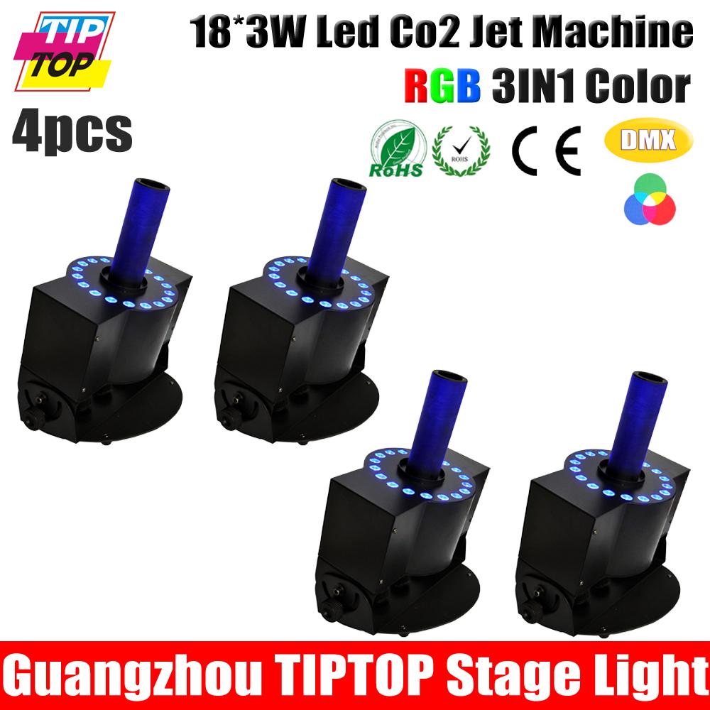 4XLOT RGB LED CO2 Jet Machine Smoke Machine Professional LED DJ Fog Machine DJ Lighting Stage Special RGB Led Smoke Effect <br><br>Aliexpress
