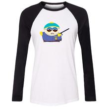 iDzn Women's T-shirt South Park Stan Marsh Kyle Broflovski Eric Theodore Cartman Kenny McCormick Long Sleeve Girl's T shirt Tops(China (Mainland))