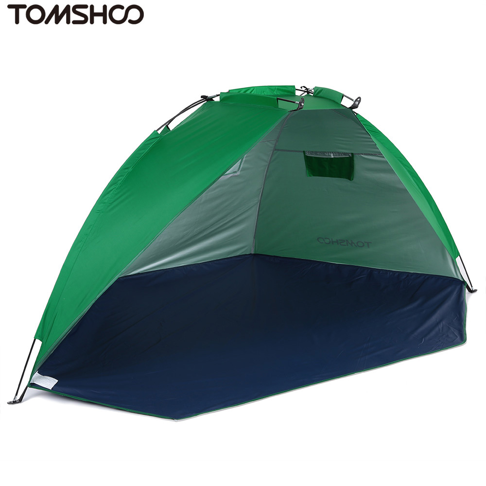 TOMSHOO 2 Persons Outdoor Beach Tents Shelters Shade UV Protecting Ultralight Fishing Tent for Fishing Picnic Park(China (Mainland))