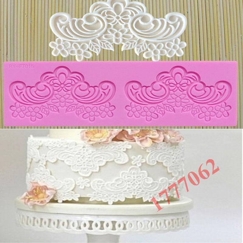 Hot Silicone Cake Fondant Mould Flower Lace Mold Sugar Craft Wedding Decorating Paste Kitchen Tools(China (Mainland))