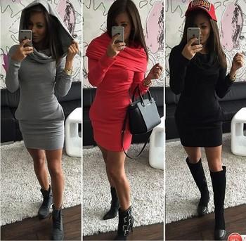 2015 зима осень женщины платье пакет хип элегантный короткие платья с длинным рукавом карманы женская одежда Большой размер