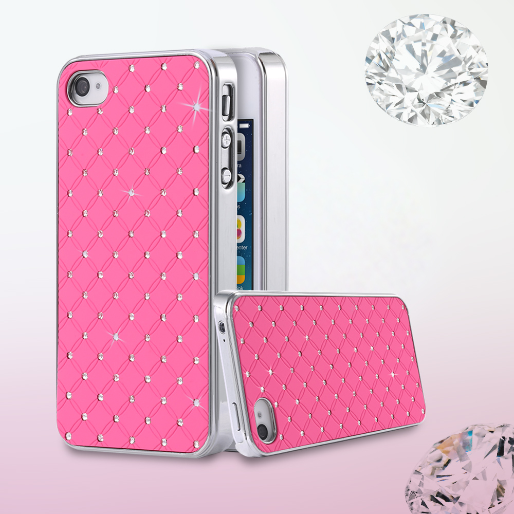 For iPhone 5 Diamond Case Luxury Bling Rhinestone Plating Case For iPhone 5 5S SE 5G Shinny Cool Hard Phone Mobile Phone Cover(China (Mainland))