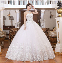 2016 new bride fashion tube top wedding dress, deep v-collar-studded lace straps waist maternity wedding dresses.