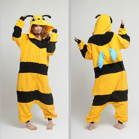 COSBUS Yellow Bee / cartoon Animal Pajamas adult onesie suits unisex couple home service COSPLAY Party Csleepwear costume - store