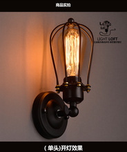 110-220v Loft American country Industrial style Iron Retro Small cages Wall lamps Vintage Industrial Lighting Pendant Lights(China (Mainland))