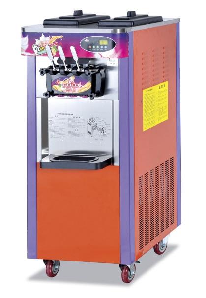 2 flavors+mixed Ice cream maker vertical full automatic frozen yogurt machine /soft ice cream machine(China (Mainland))