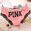 Hot Sale Cotton Panties Sexy Underwear Women Lace Briefs Calcinha Pink Cute Dog Lingerie Girl Tanga
