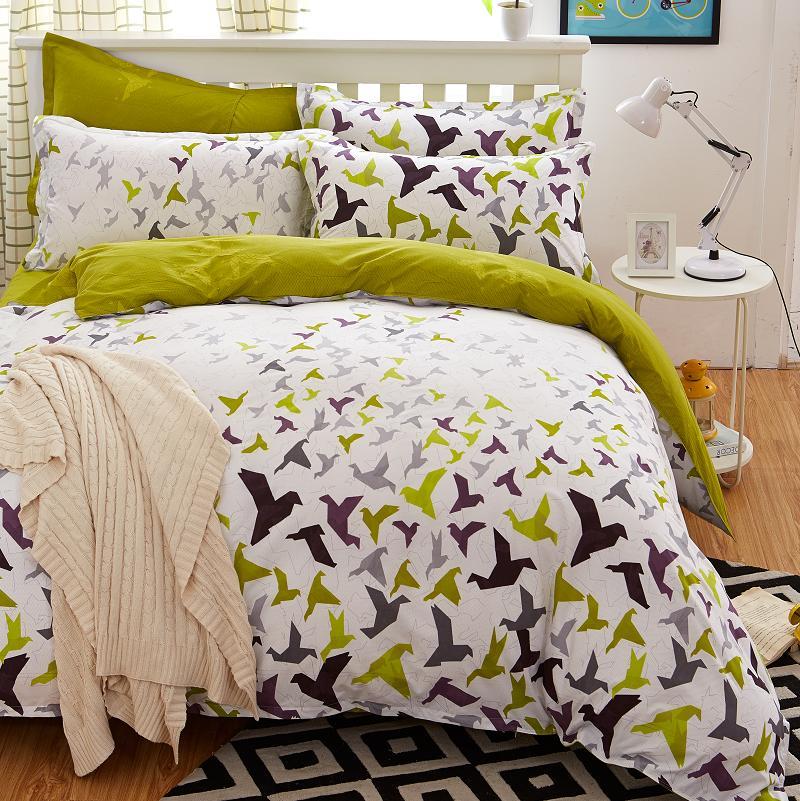 2016 new origami cranes bedding set cotton bed sheet cozy