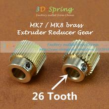 5 шт./лот 3D аксессуары для принтеров Mk7 MK8 26 зубов 40 зубов латунь планета редуктор экструдер кормления передач экструзии колеса