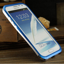 Double Color Waistline Armor Alloy Metal Bumper Frame Case For Samsung Galaxy Note 2 II N7100 Case and Cover Aluminium(China (Mainland))