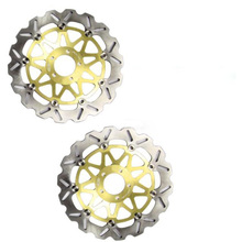 Front Brake Disc Rotors For YAMAHA FZ750 FZS FZR 600 XJR TZ 250 TDM TRX 850 Gold Color, Motorcycle Spare Parts Accessories(China (Mainland))
