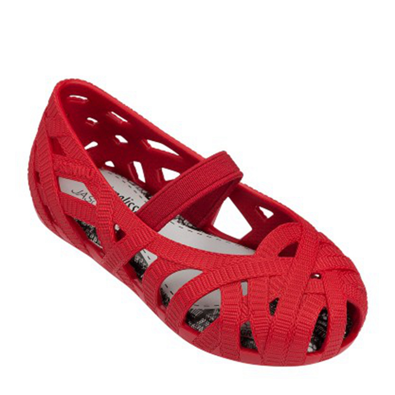 2017 NEW Girls Sandals Soft Leather PVC Girl Shoes Flat with Porous Breathable Kids Sandals Elastic Band Childrens Shoes(China (Mainland))