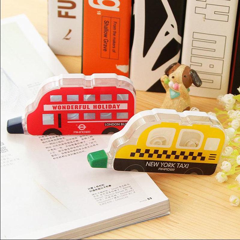 Korea Stationery Correction Pen Decoration Novelty Kawaii Cartoon Taxi School Office Supply Brand High Quality Free Shipping(China (Mainland))